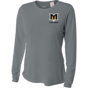 M - NW3002 A4 Ladies' Long Sleeve Cooling Performance Crew Shirt