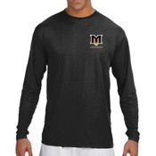 M - N3165 A4 Long-Sleeve Cooling Performance Crew Neck T-Shirt