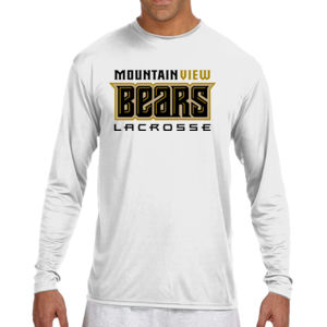 Bears - N3165 A4 Long-Sleeve Cooling Performance Crew Neck T-Shirt Thumbnail