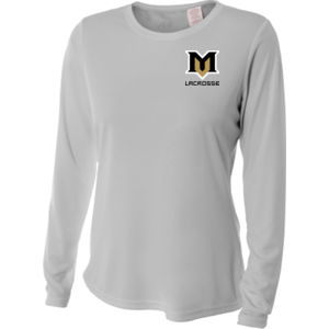 M - NW3002 A4 Ladies' Long Sleeve Cooling Performance Crew Shirt Thumbnail